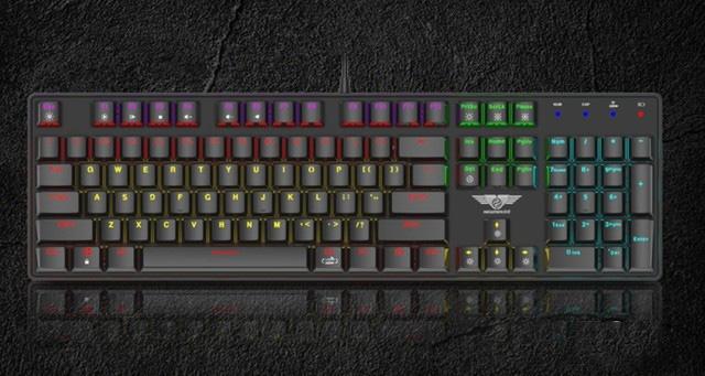 Bàn phím cơ không dây Dual Mode Newmen GM335 hai chế độ, ánh sáng đầy màu sắc - Ảnh 1.
