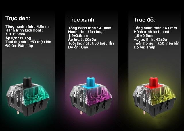 Bàn phím cơ không dây Dual Mode Newmen GM335 hai chế độ, ánh sáng đầy màu sắc - Ảnh 2.
