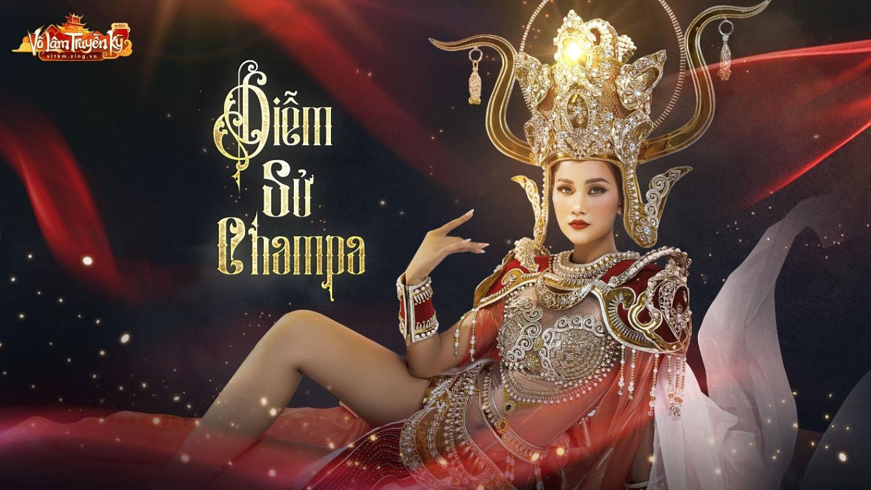 Người mẫu Hương Ly và Quỳnh Anh hóa nữ thần Chăm Pa kiêu sa trong bộ sưu tập mới - Ảnh 2.