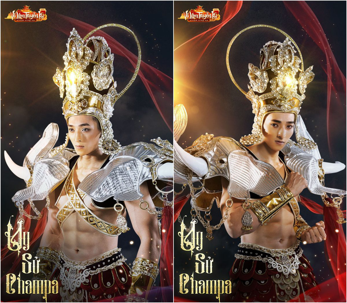 Người mẫu Hương Ly và Quỳnh Anh hóa nữ thần Chăm Pa kiêu sa trong bộ sưu tập mới - Ảnh 7.