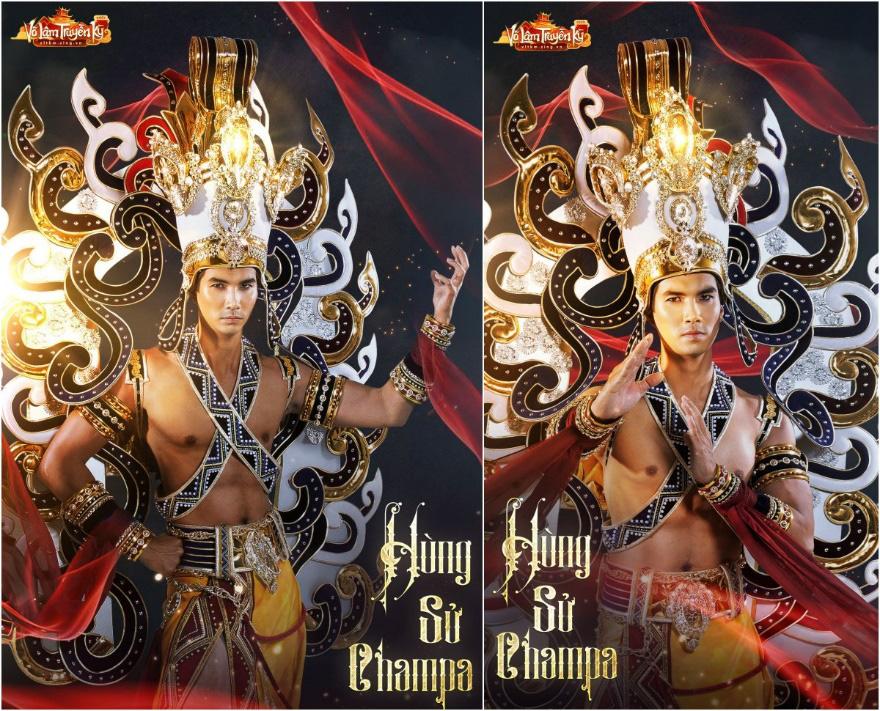 Người mẫu Hương Ly và Quỳnh Anh hóa nữ thần Chăm Pa kiêu sa trong bộ sưu tập mới - Ảnh 8.