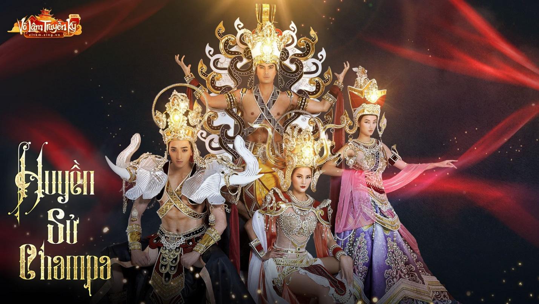 Người mẫu Hương Ly và Quỳnh Anh hóa nữ thần Chăm Pa kiêu sa trong bộ sưu tập mới - Ảnh 9.
