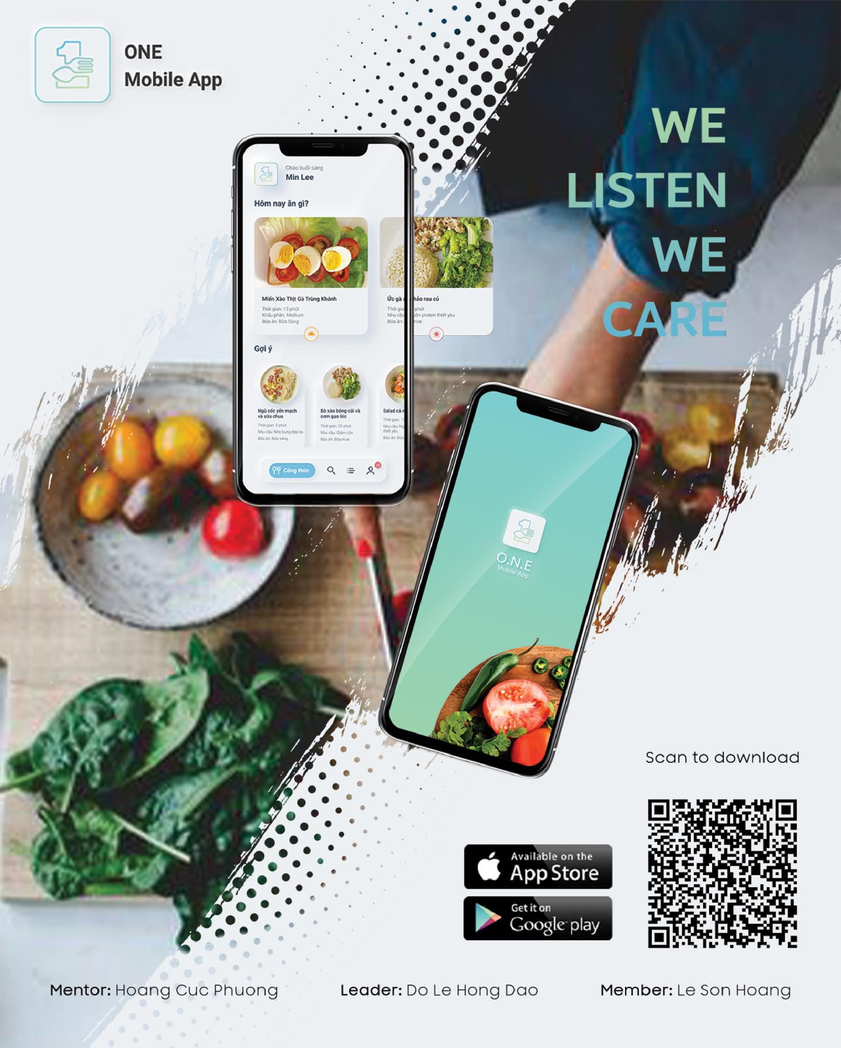 Sinh viên ĐH FPT làm app tư vấn bữa ăn dinh dưỡng cho người độc thân bận rộn - Ảnh 1.