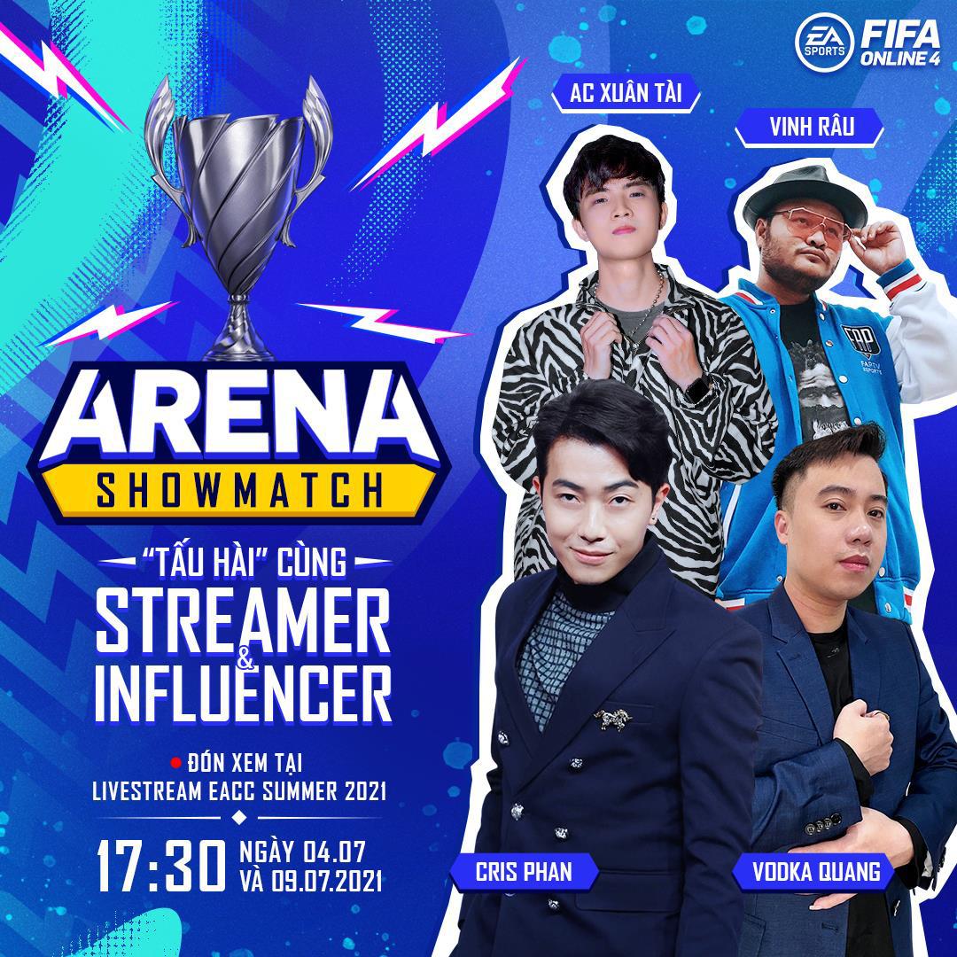Cris Devil Gamer, Vinh Râu, Hùng Dũng cùng dàn tuyển thủ Việt Nam góp mặt trong gameshow mới của FIFA Online 4: ARENA Showmatch - Ảnh 3.