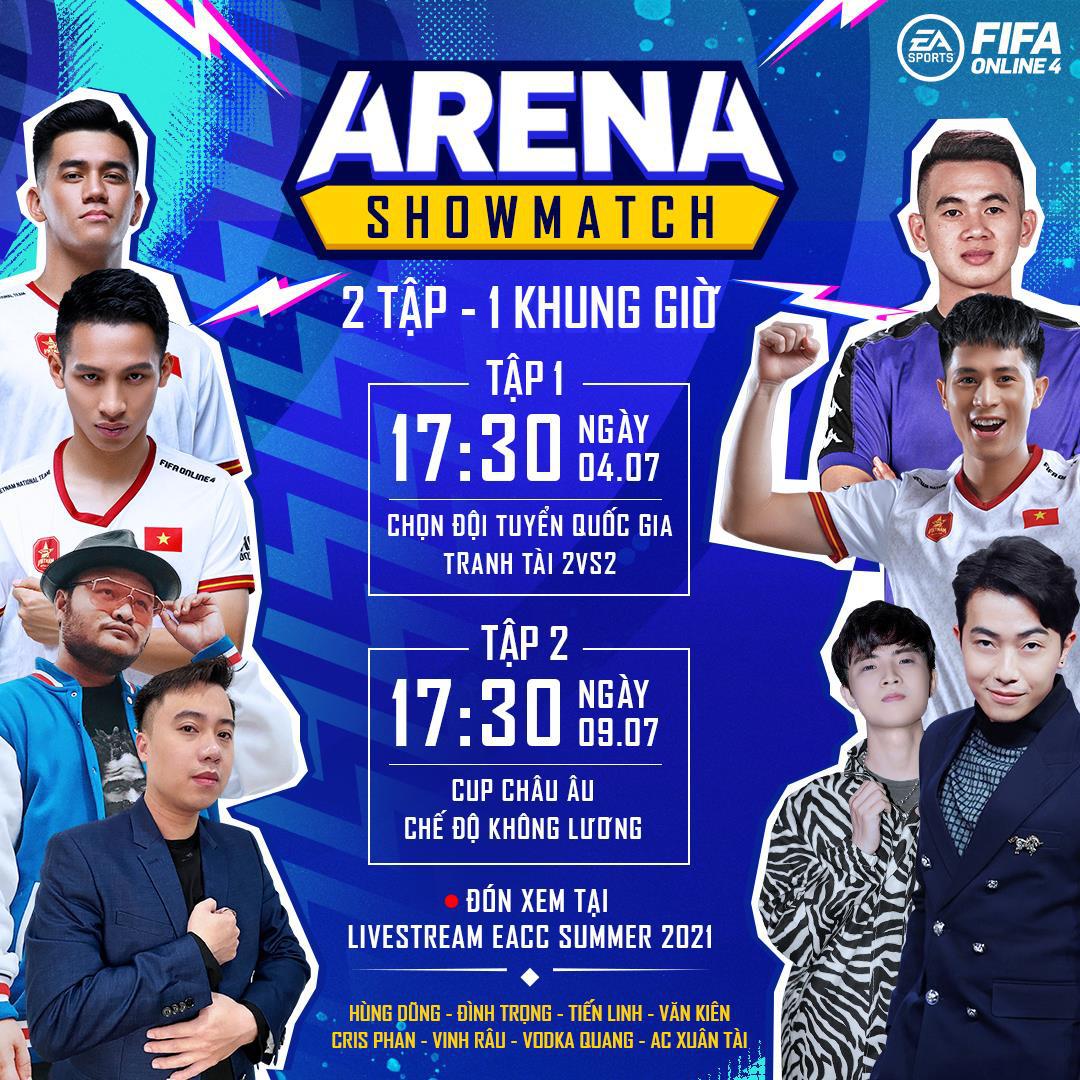 Cris Devil Gamer, Vinh Râu, Hùng Dũng cùng dàn tuyển thủ Việt Nam góp mặt trong gameshow mới của FIFA Online 4: ARENA Showmatch - Ảnh 4.