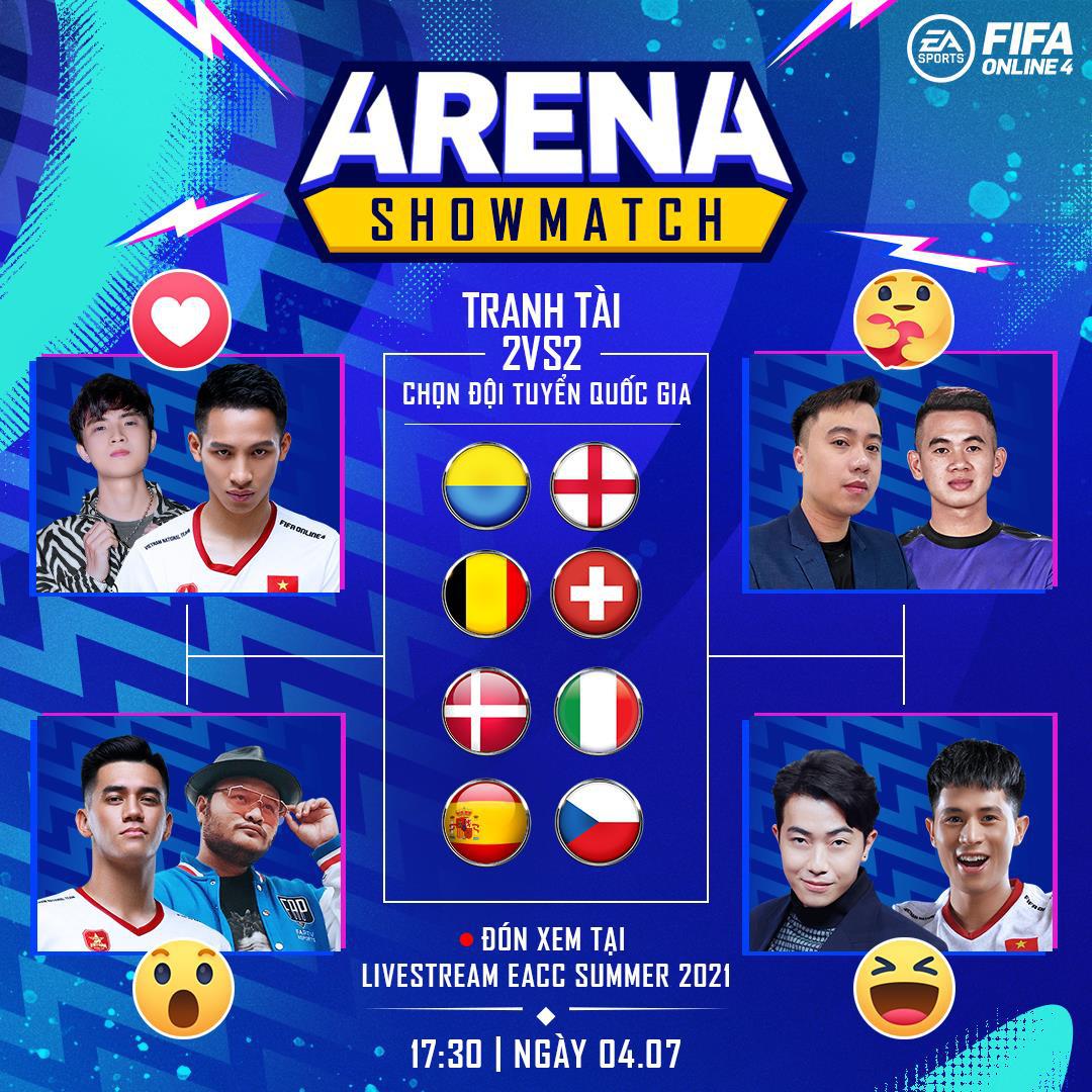 Cris Devil Gamer, Vinh Râu, Hùng Dũng cùng dàn tuyển thủ Việt Nam góp mặt trong gameshow mới của FIFA Online 4: ARENA Showmatch - Ảnh 5.