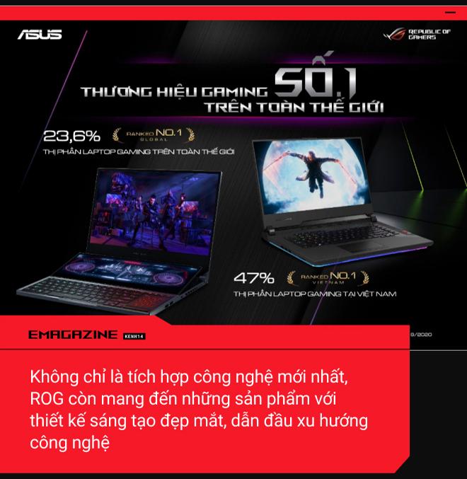 Mạnh mẽ, thời trang - Thống trị làng laptop gaming: Nhất định là ROG - Ảnh 3.