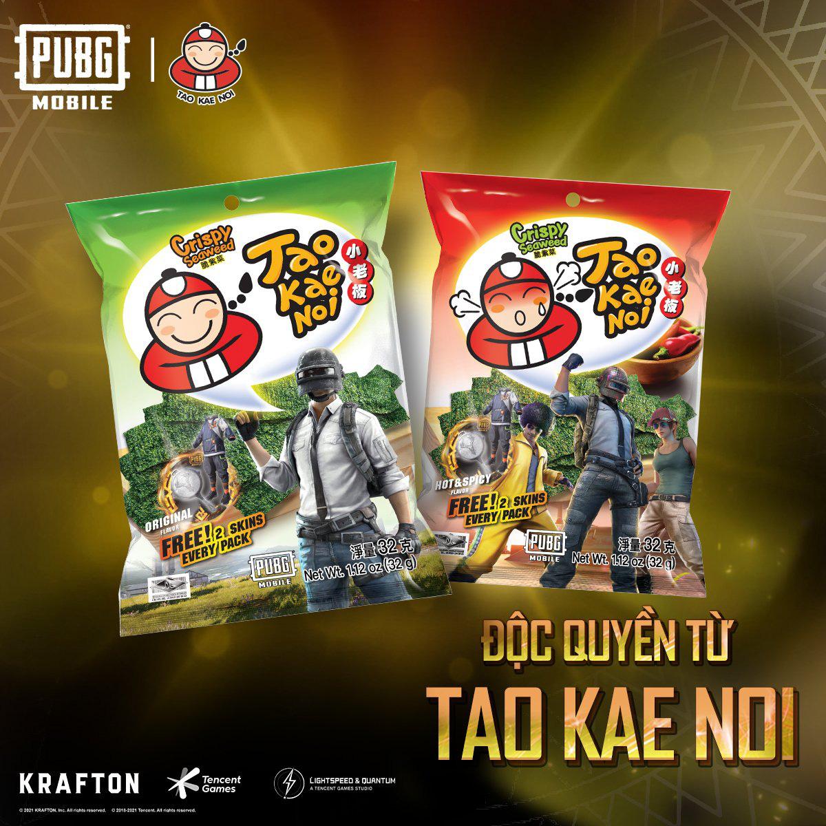Đắm chìm trong chuỗi sự kiện hợp tác giữa PUBG Mobile và snack rong biển Tao Kae Noi - Ảnh 1.