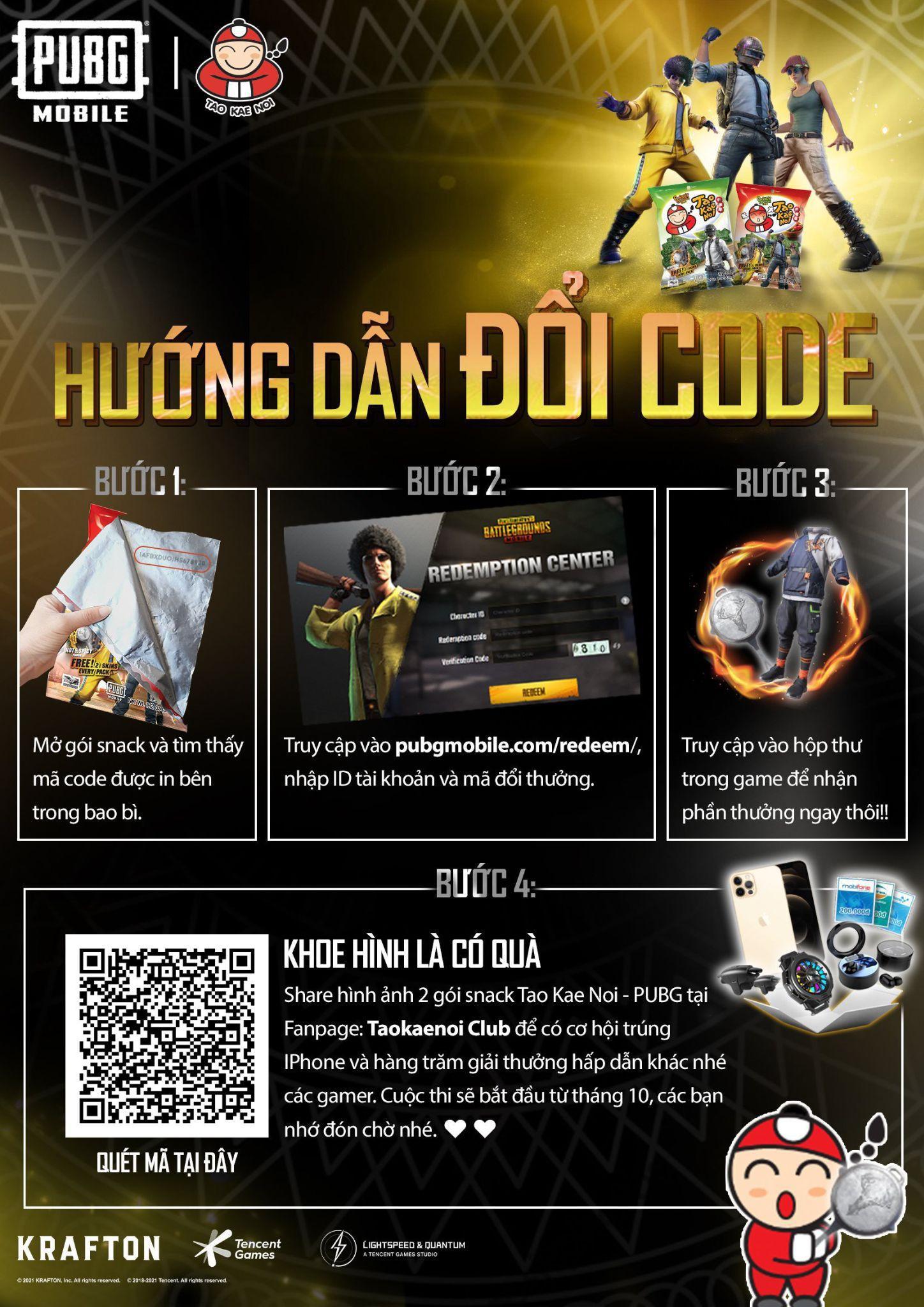 Đắm chìm trong chuỗi sự kiện hợp tác giữa PUBG Mobile và snack rong biển Tao Kae Noi - Ảnh 2.
