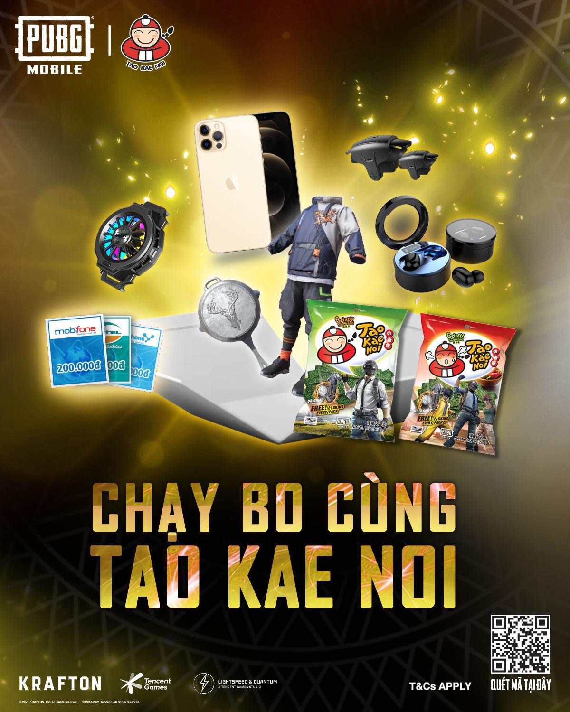 Đắm chìm trong chuỗi sự kiện hợp tác giữa PUBG Mobile và snack rong biển Tao Kae Noi - Ảnh 3.