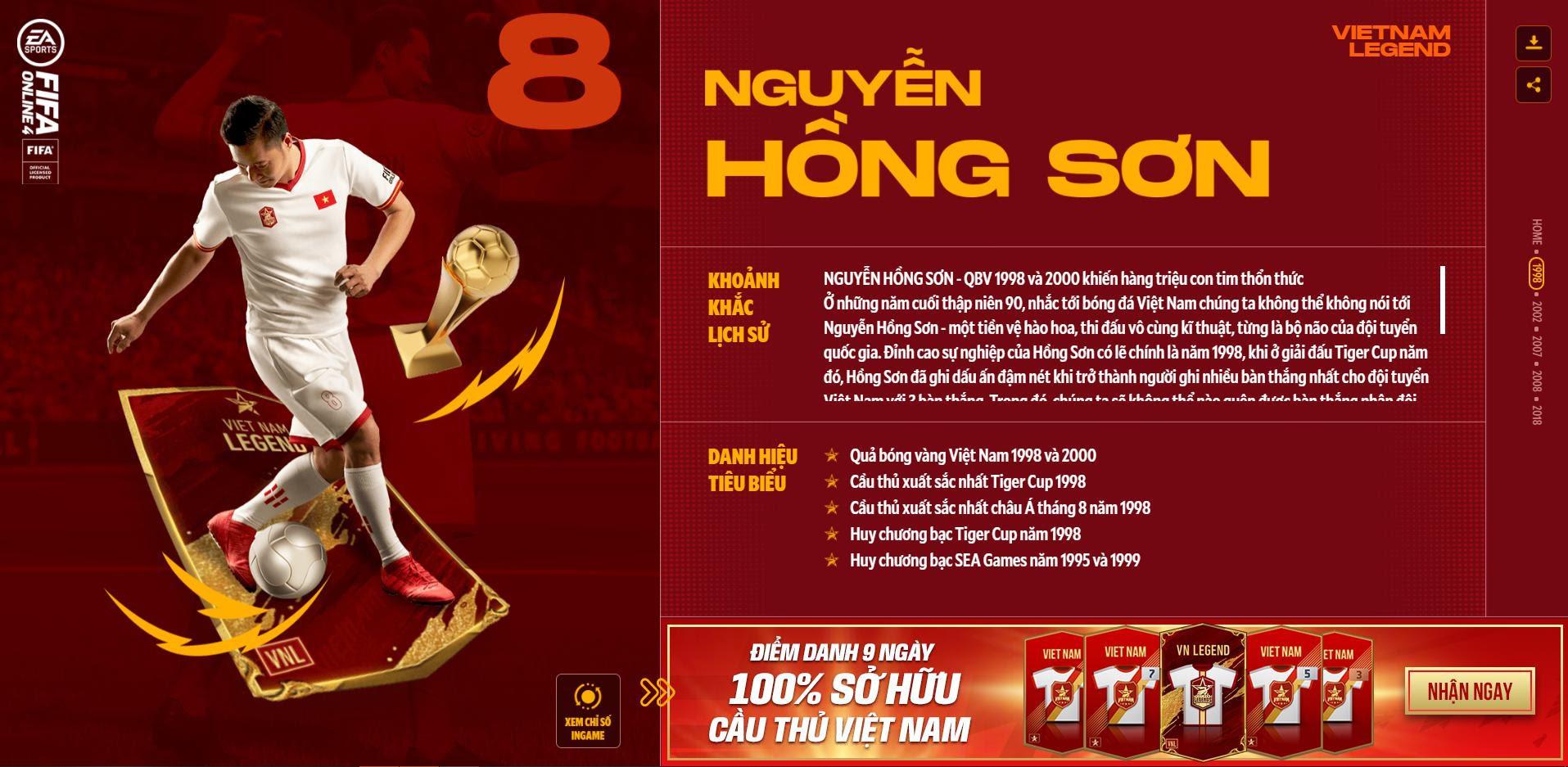 Các huyền thoại bóng đá Việt Nam bất ngờ xuất hiện trong Fifa Online 4 - Ảnh 1.