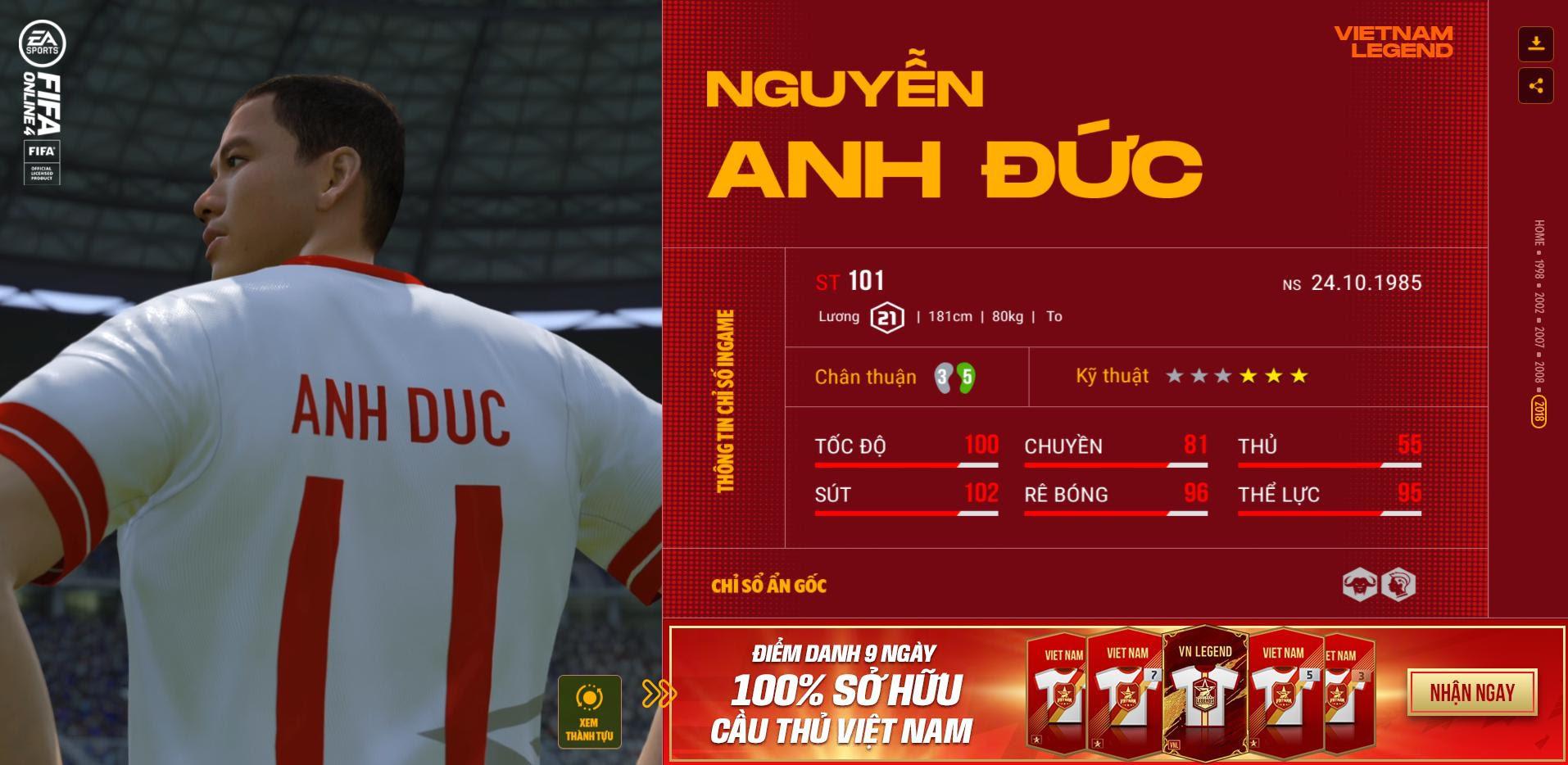Các huyền thoại bóng đá Việt Nam bất ngờ xuất hiện trong Fifa Online 4 - Ảnh 10.