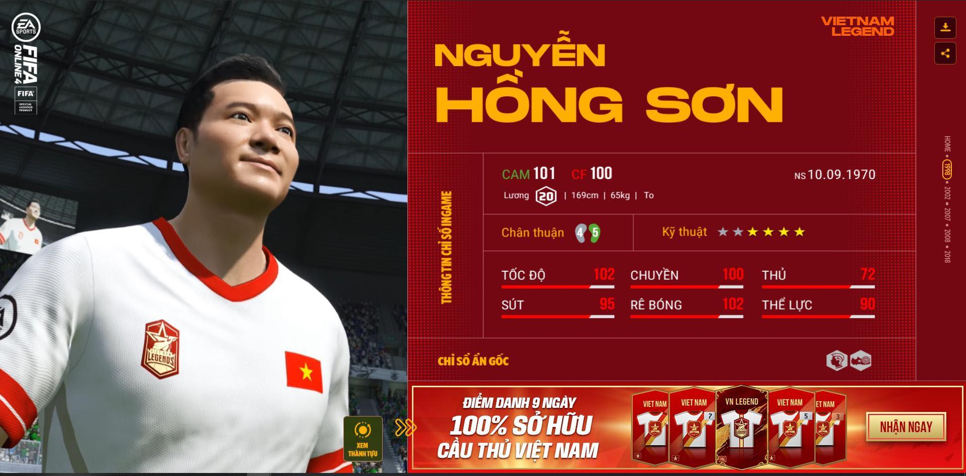 Các huyền thoại bóng đá Việt Nam bất ngờ xuất hiện trong Fifa Online 4 - Ảnh 2.