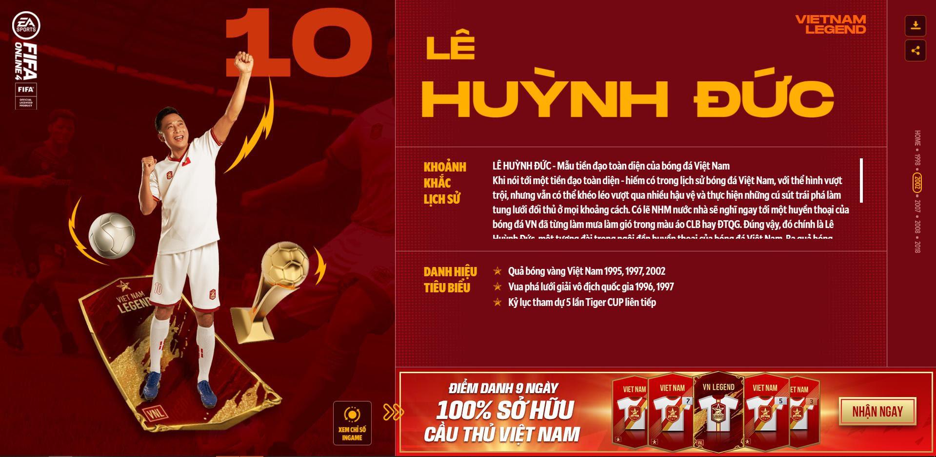 Các huyền thoại bóng đá Việt Nam bất ngờ xuất hiện trong Fifa Online 4 - Ảnh 3.