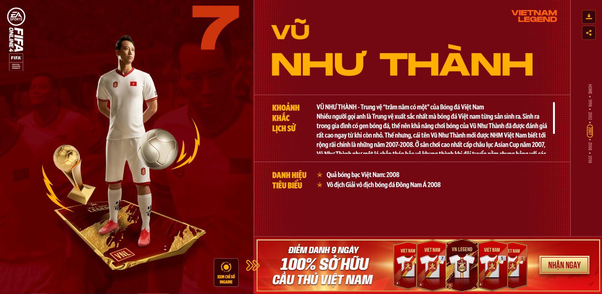 Các huyền thoại bóng đá Việt Nam bất ngờ xuất hiện trong Fifa Online 4 - Ảnh 5.