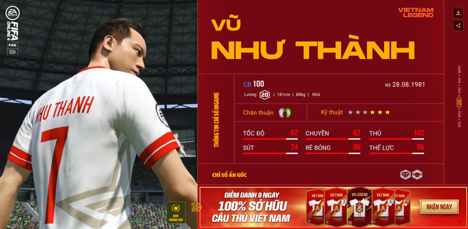 Các huyền thoại bóng đá Việt Nam bất ngờ xuất hiện trong Fifa Online 4 - Ảnh 6.
