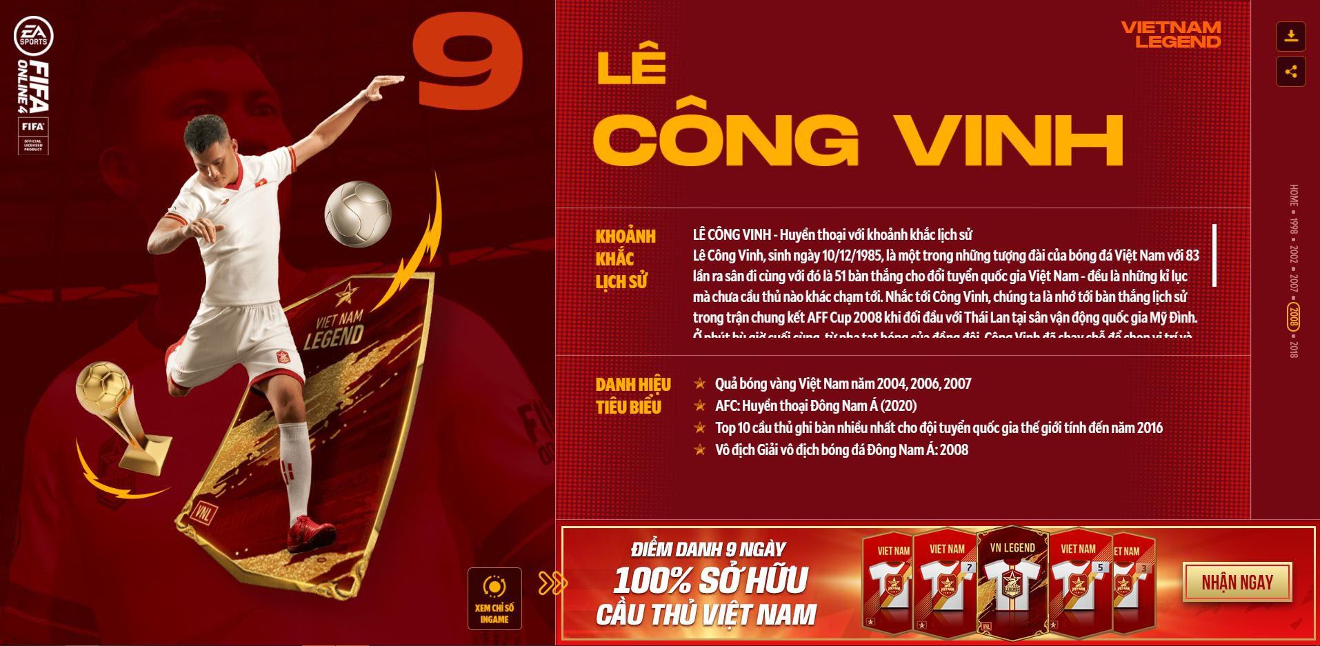 Các huyền thoại bóng đá Việt Nam bất ngờ xuất hiện trong Fifa Online 4 - Ảnh 7.