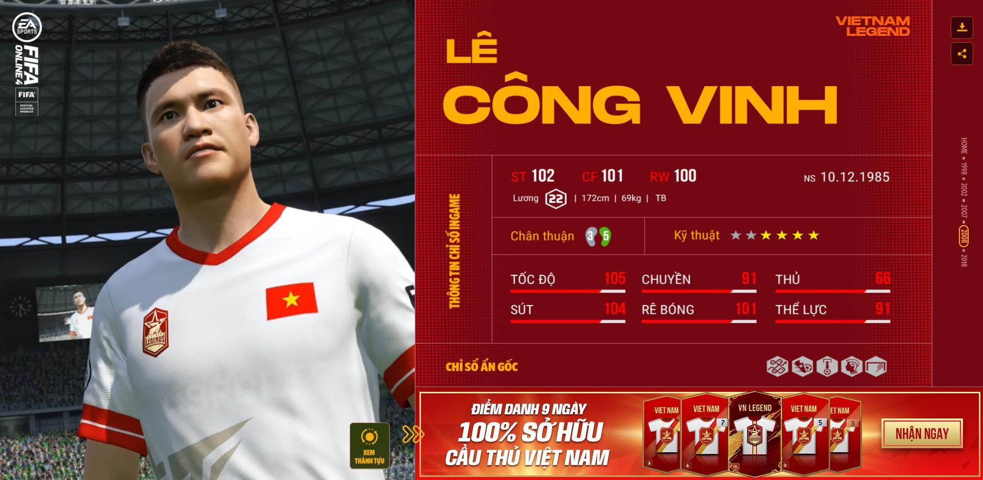 Các huyền thoại bóng đá Việt Nam bất ngờ xuất hiện trong Fifa Online 4 - Ảnh 8.