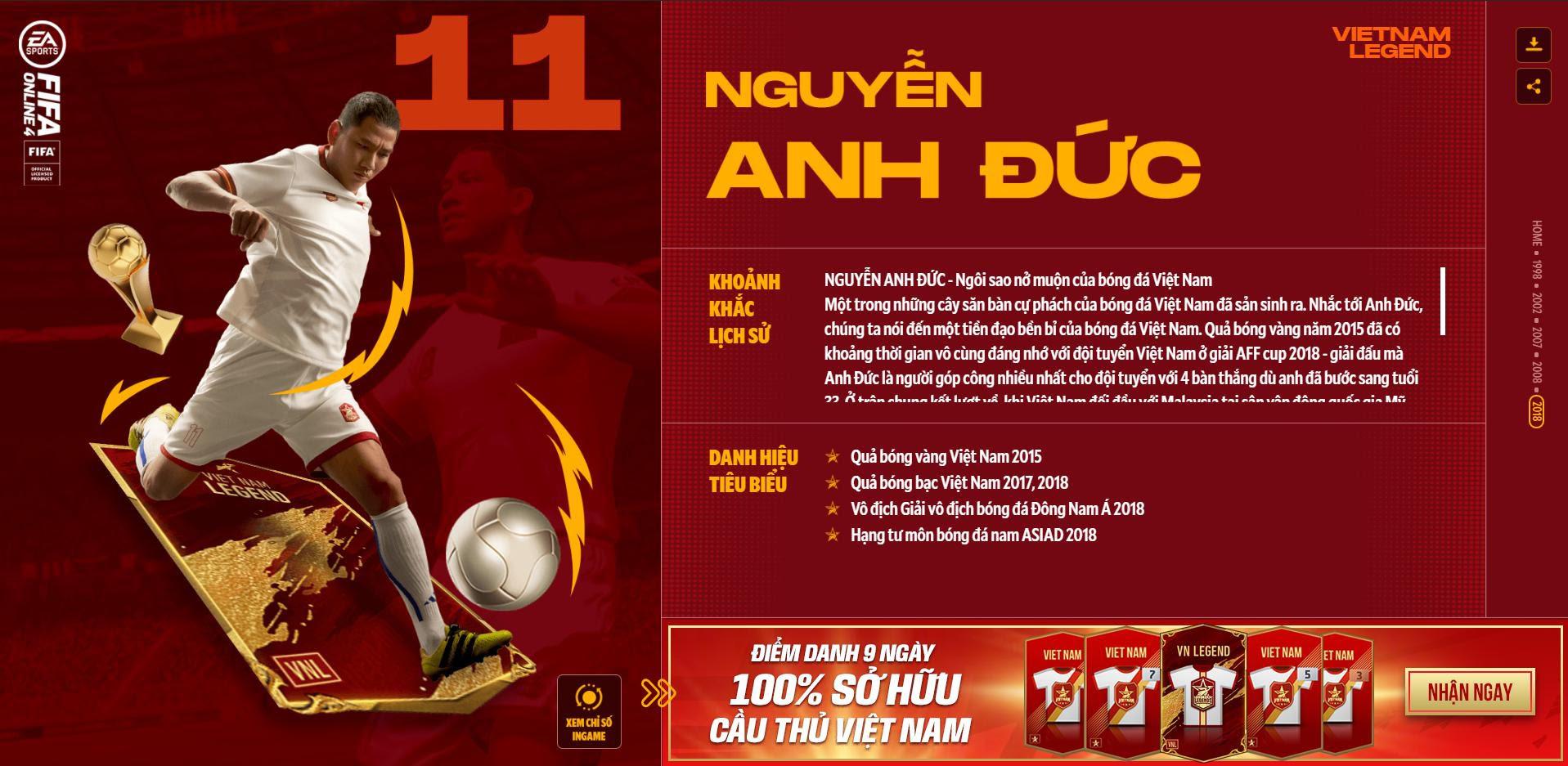Các huyền thoại bóng đá Việt Nam bất ngờ xuất hiện trong Fifa Online 4 - Ảnh 9.