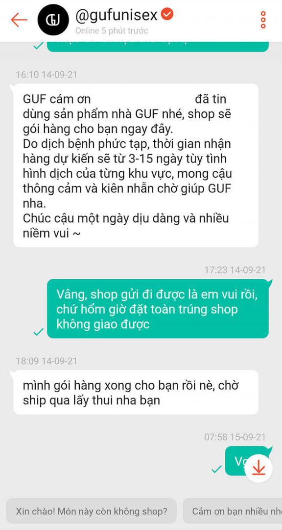 """""""Ấm lòng"""" với tin nhắn gửi khách từ người bán hàng trên Shopee - Ảnh 1."""