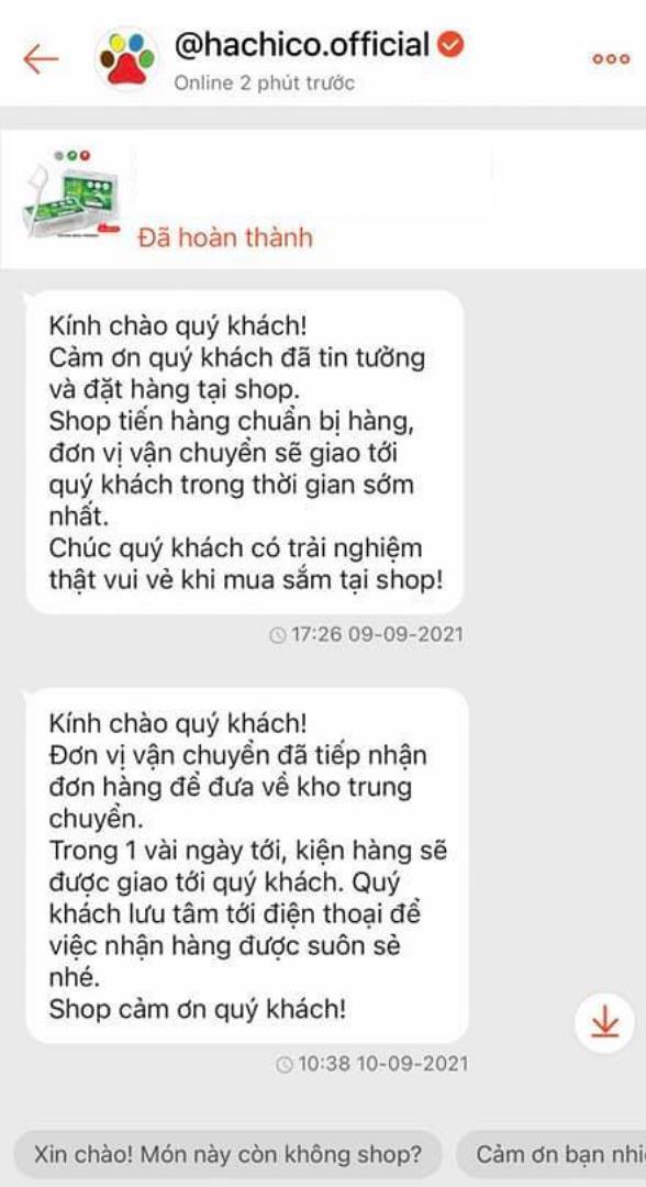 """""""Ấm lòng"""" với tin nhắn gửi khách từ người bán hàng trên Shopee - Ảnh 3."""