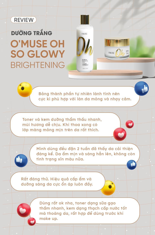 OMuse Oh So Glowy: Bộ đôi dưỡng trắng khiến Nhung Gumiho và các hot TikToker mê mẩn - Ảnh 5.