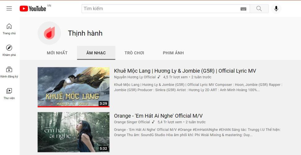 Khuê Mộc Lang - Sự kết hợp lần đầu của Hương Ly và Jombie đạt top 1 trending music YouTube - Ảnh 1.