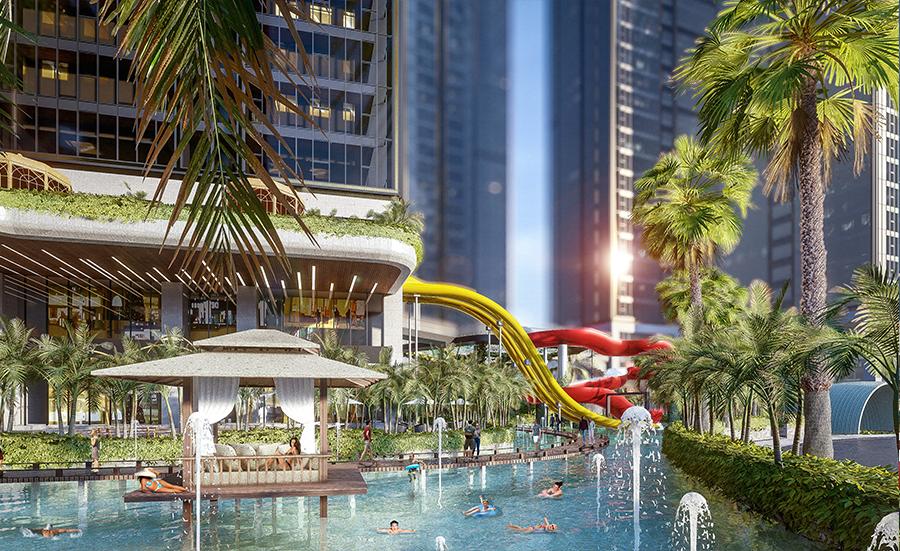 Khám phá không gian sống 365 ngày chuẩn resort tại Sunshine City Sài Gòn san vuong 1