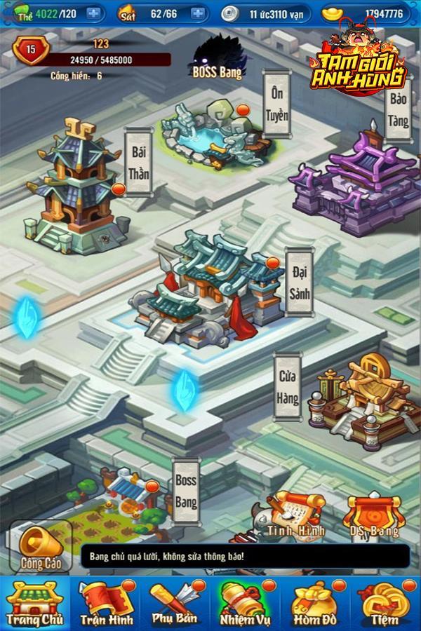 Một số hình ảnh của game Tam Giới Anh Hùng Img20190325153855184