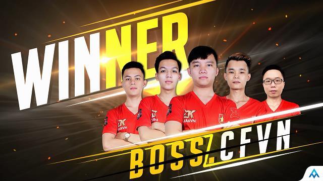Không tìm ra đối thủ xứng tầm, BossCFVN lên ngôi vô địch Đột Kích CFEL 2017 mùa 1
