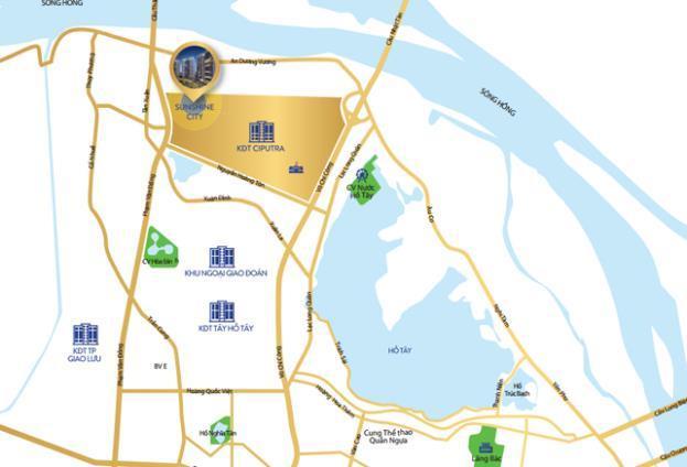 Sunshine City và Sunshine Riversie, hai dự án được coi là biểu tượng phát triển của Tập đoàn, tọa lạc ở khu đất vàng ven hồ Tây.