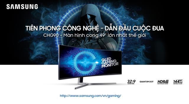 """Nâng hạng """"sang"""" ICAFE bằng màn hình """"đỉnh của đỉnh"""" Samsung CHG90"""