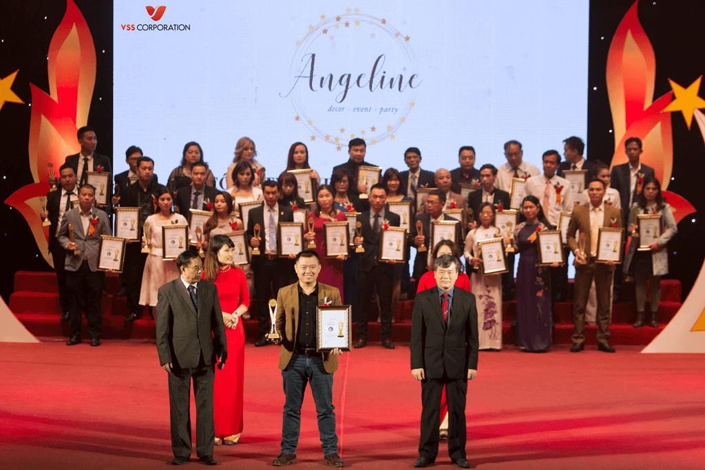 Angeline –vinh dự nhận giải thưởng sản phẩm, thương hiệu chất lượng cao năm 2017