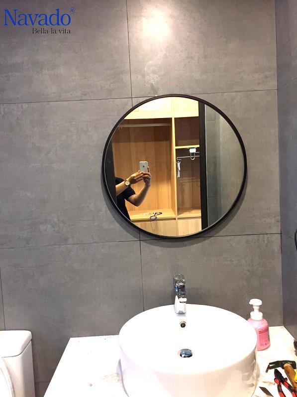 Các mẫu gương phòng tắm nghệ thuật độc đáo nhất hiện nay - Ảnh 6.