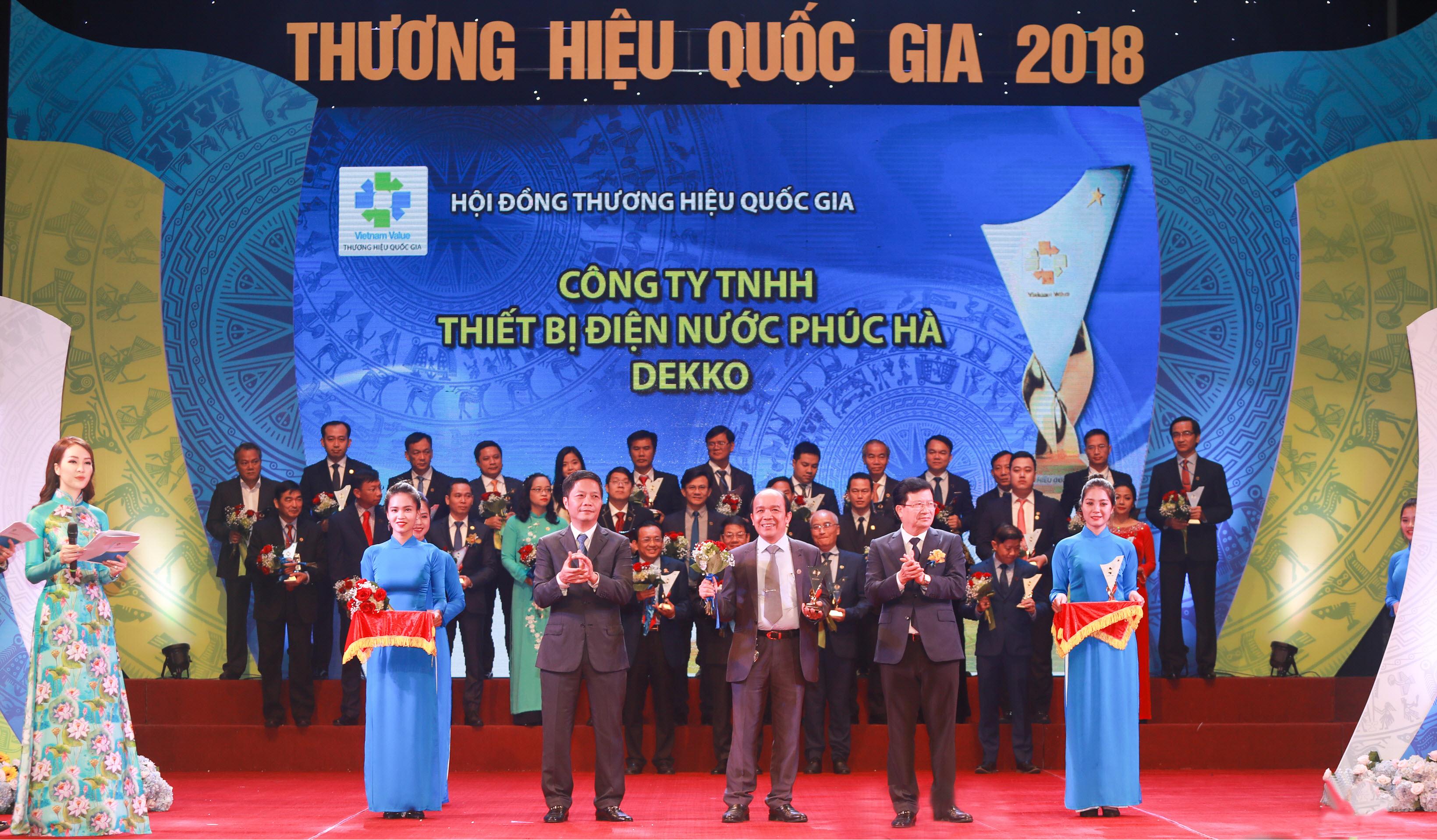 Ống nhựa dekko - img20181221172238107 - Ống nhựa DEKKO vinh dự đón nhận giải thưởng Thương hiệu quốc gia 2018