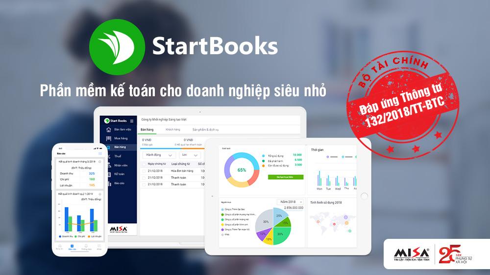 Doanh nghiệp siêu nhỏ đã có phần mềm kế toán riêng MISA Startbooks