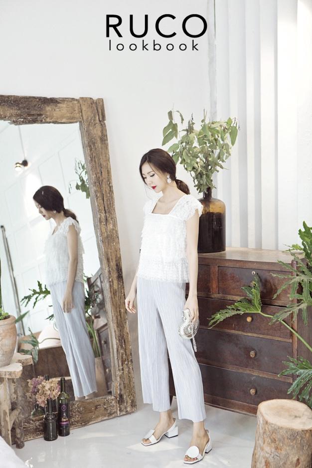 Hot item phải có trong hè: áo trễ vai, váy ren và trang phục đơn sắc - Ảnh 5.