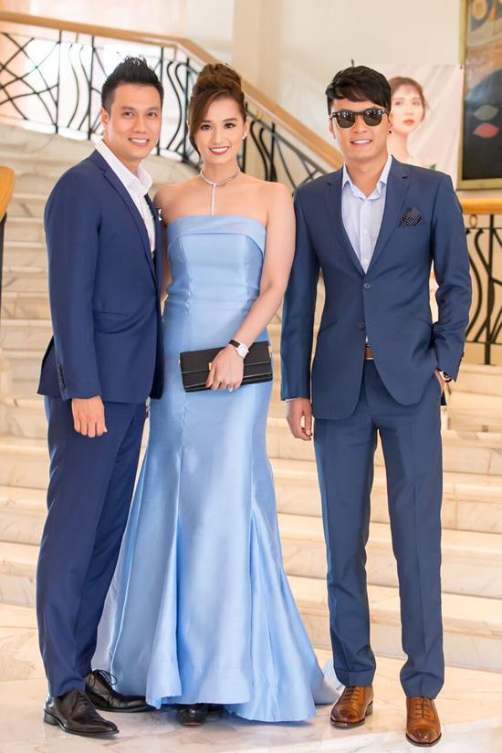 Anh em Phan Thành, Phan Hải diện vest hộ tống Lã Thanh Huyền dự sự kiện của Huyền Lizze - Ảnh 1.