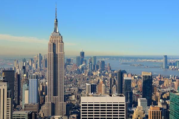 Trung tâm tài chính, kinh tế, xã hội xa hoa bậc nhất nước Mỹ, thành thị New York vươn mình bên dòng sông Hudson.