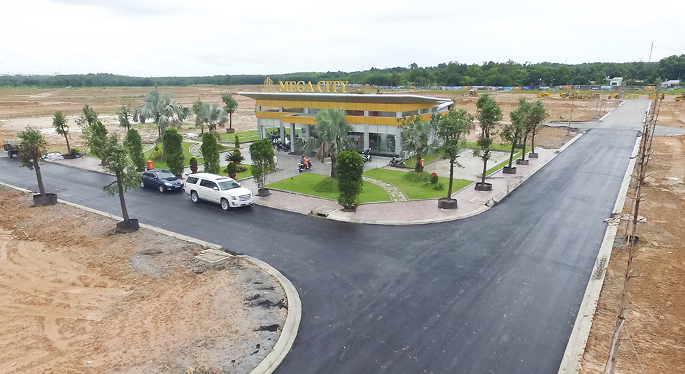 Những tuyến 1 số con phố chính của Mega City đã được trải nhựa và trồng cây xanh.