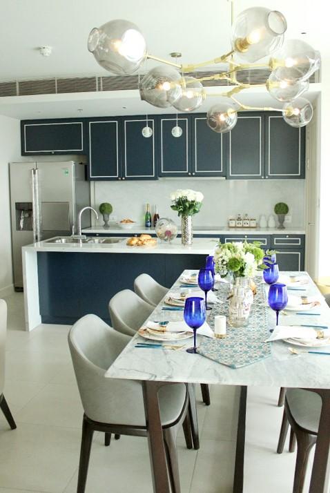 Căn bếp và phòng ăn đậm chất thời trang Ý.