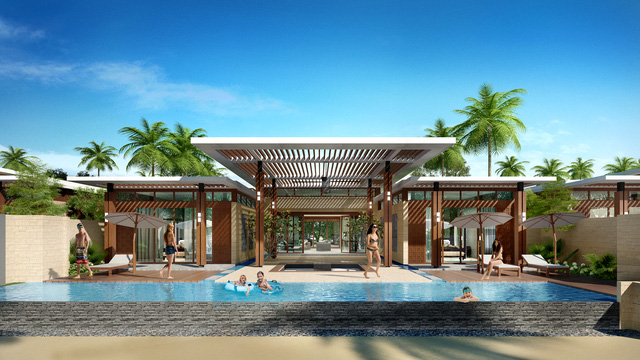 Không gian tinh tế cộng sự biệt lập riêng tư có đầy đủ các tiện ích 5 sao + của Vanesea Villa ở dự án Pan Pacific Danang Resort.