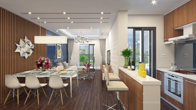 Các căn hộ của dự án Việt Đức Complex đảm bảo đủ không gian sinh hoạt cho gia đình đa thế hệ.
