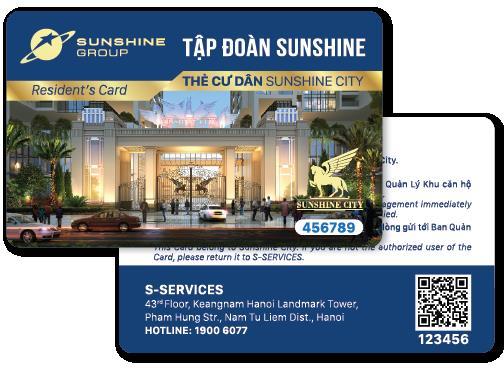Ứng dụng Sunshine và Thẻ cư dân thông minh thực chất chỉ là 2 trong số một vài dịch vụ thuộc hệ thống quản gia thông minh S-Service. Đứng đằng sau hệ thống quản gia này là cả 1 đội ngũ kỹ thuật chuyên nghiệp được đào tạo bài bản.