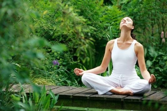 Không gian thiền trên đồi là thiên đường cho những ai yêu thích yoga.