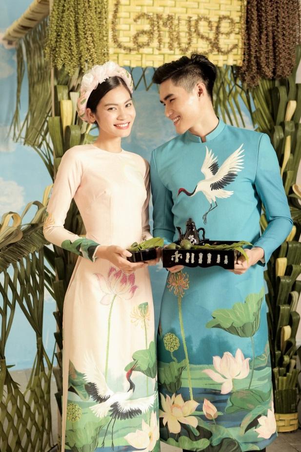 2 quán quân Next Top Model nổi bật với BST áo dài ngày cưới - Ảnh 5.