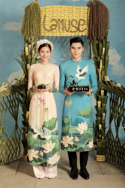 2 quán quân Next Top Model nổi bật với BST áo dài ngày cưới - Ảnh 6.