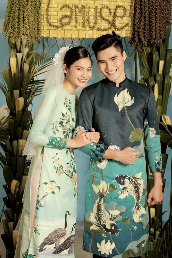 2 quán quân Next Top Model nổi bật với BST áo dài ngày cưới - Ảnh 10.
