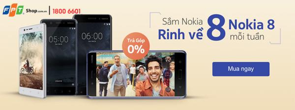 Chỉ với 3,9 triệu đồng, sở hữu ngay siêu phẩm Nokia 8 tại FPT Shop - Ảnh 1.