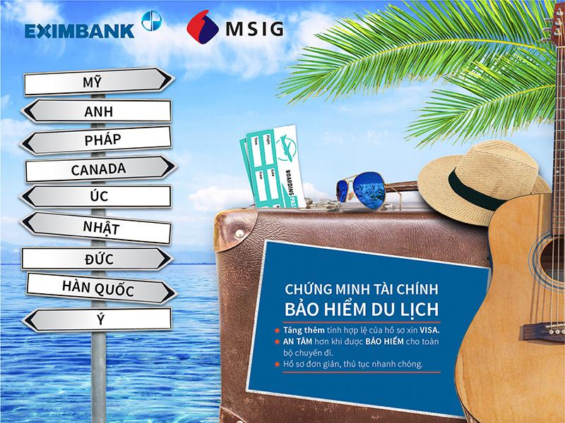 """Eximbank cùng MSIG Việt Nam triển khai gói sản phẩm """"Chứng minh tài chính – Bảo hiểm du lịch"""" - Ảnh 2."""